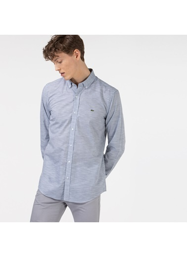 Lacoste Erkek Slim Fit Gömlek CH0132.32G Gri